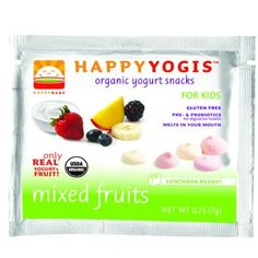 Happy Baby. HappyYogis (organic yogurt snacks)... good for big kids (like me) too!!