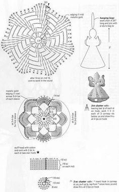 1 million+ Stunning Free Images to Use Anywhere Christmas Crochet Patterns, Crochet Christmas Ornaments, Crochet Snowflakes, Crochet Flower Patterns, Christmas Angels, Crochet Motif, Diy Crochet, Irish Crochet, Crochet Doilies