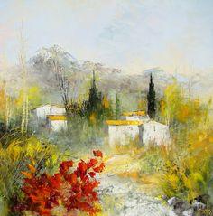 Manuel Rubalo - Site officiel - Oeuvres Watercolor Landscape, Watercolour Painting, Landscape Art, Landscape Paintings, Nature Pictures, Amazing Nature, Ceramic Art, Cool Art, Abstract Art