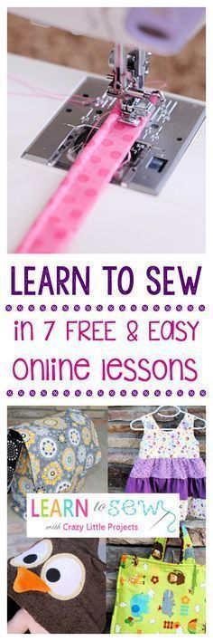 Learn to Sew with these easy, free online lessons! #easyhandcrafttricks