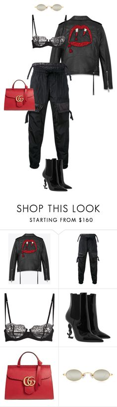 """""""Love At First Bite"""" by natteehh on Polyvore featuring Yves Saint Laurent, KTZ, La Perla and Gucci"""