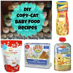 DIY Teething Bisquits, Homemade Baby Food Pouches, DIY Frozen Yogurt Puffs, & Homemade Baby Puffs