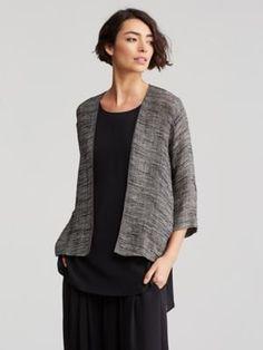 Kimono Jacket in Linen Gauze Strata