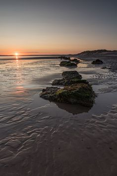 Findhorn Bay during sunrise, Scotland