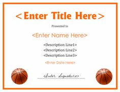 Printable basketball certificate this is a template which can be printable basketball award certificate download free files in pdf and doc formats at http yelopaper Image collections