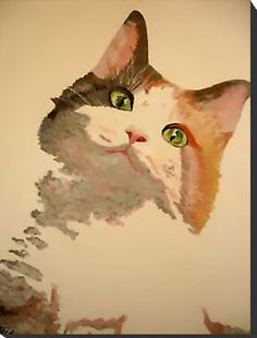 I'm All Ears. (Calico cat portrait by Taiche)