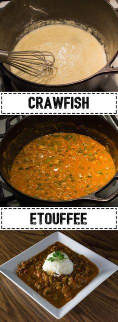 Etouffee Crawfish Etouffee, try this classic New Orleans dish tonight.Crawfish Etouffee, try this classic New Orleans dish tonight. Crawfish Etoufee Recipe, Etouffee Recipe, Crawfish Recipes, Crawfish Etouffee, Cajun Recipes, Seafood Recipes, Cooking Recipes, Haitian Recipes, Crawfish Pasta