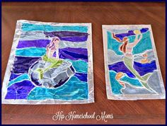 Tutorial for how to make aluminum foil stained glass art to go along with your unit study or just for fun!