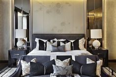 One Hyde Park - Project Candy- bedroom interior Home Bedroom, Bedroom Furniture, Master Bedroom, Bedroom Decor, Luxury Interior, Home Interior, Interior Design, Glamour Decor, Luxurious Bedrooms