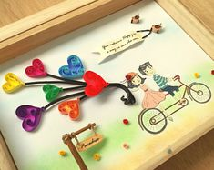 Quilled Paper Art | Couple's Paradise