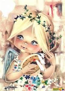 Angel with ukelele