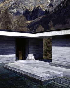 Thermal Baths in Vals, Switzerland by Peter Zumthor; image by Helene Binet