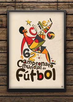 Belos cartazes vintage de países que sediaram a copa do mundo