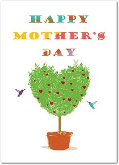Garden Heart - Mother's Day Greeting Cards - Magnolia Press - Green Tea - Green : Front