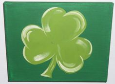 Easy Canvas Painting, Spring Painting, Painting Tips, Kids Canvas, Canvas Art, Canvas Paintings, Saint Patricks Day Art, Painted Rocks, Hand Painted