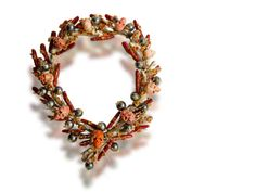 A coral, fire opal, cultured pearl and diamond necklace, Tony Duquette