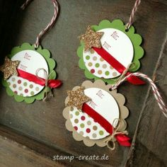 Stamp and Create: Stampin Up Convention 2013 in Manchester Stampin Up Christmas, Christmas Paper, Handmade Christmas, Christmas Crafts, Christmas Decorations, Christmas Ornaments, Handmade Tags, Christmas Gift Wrapping, Card Tags