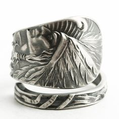 Native American Ring Indian Headdress Indian Chief by Spoonier