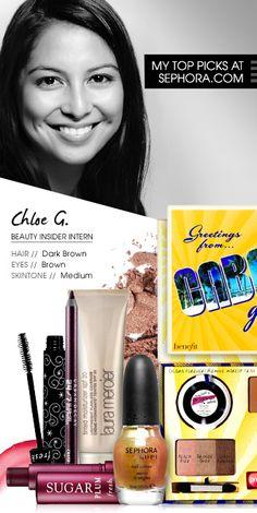 Chloe G., Beauty Insider Intern. My picks at Sephora.com #Sephora #SephoraItLists