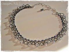 Creazioni Rita C. ... Only Handmade!: Due Girocolli di Perline... Cucite una ad una...