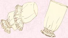 Engageantes: Ramillete de volantes en el traje a la francesa. Eran dos en los tejidos del traje y tres en los de la lencería.