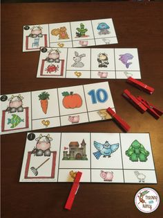 Spanish Rhyming Stations with a cute farm theme. These are perfect for preK and kindergarten stations or small group instruction.