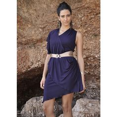 Asymetryczna sukienka dżersejowa. Dostępna w dowolnym rozmiarze i kolorze w butiku Łatka fashion.