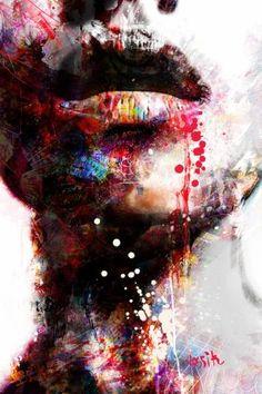 "Artist: yossi kotler; Acrylic 2016 Painting ""wondering"""