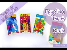 【Decks】 Egyptian Tarot Review ★! Hello Friends~ today I'd like to share with you a small review about the Egyptian Tarot; the book and deck are in Spanish, but if you want me to make a detailed video for any card or spread please let me know in the video comments ♥