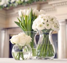 white floral centerpieces wedding flowers - Page 54 of 101 - Wedding Flowers & Bouquet Ideas White Flower Centerpieces, White Floral Arrangements, Table Flower Arrangements, Tall Wedding Centerpieces, Table Flowers, Flower Vases, Wedding Decorations, Flowers Garden, Artificial Floral Arrangements