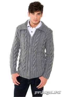 Мужской жакет спицами Sweater Shirt, Pullover Sweaters, Men Sweater, Denim Shirt, Blue Shirt With Jeans, White Shirt Men, Crochet Baby Pants, African Shirts For Men, Sweater Knitting Patterns