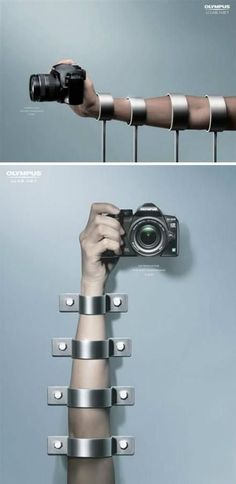 A Olympus camera ad. See more about unique categories on www.piafawards.com #olympuscamera