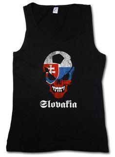 Classic Slovakia Football Soccer Skull Tank Top Gym Vest - Fan Hooligan Shirt