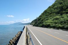 Coast road south of Niigata city, Japan