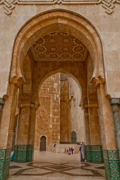 Arches outside Hassan II Mosque in Casablanca, Morocco | by Karim Taib