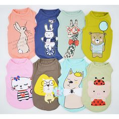 2017 Cute Cartoon Pet Dog Clothes Soft Dogs Shirt Fashion Cat Clothing Vest Summer Cotton Sweatshirt Coats For Small Pets XS-XL //Price: $9.95 & FREE Shipping //     #HALOWEEN
