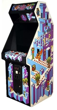 "Crystal Castles upright (Atari 1983). ""Get the Gems, Bentley Bear!"""