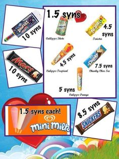 Slimming World Ice Cream Syns Slimming World Tesco, Slimming World Sweets, Slimming World Dinners, Slimming World Recipes Syn Free, Chocolate Syns, Slimming Word, Sw Meals, Snacks List, Mini Milk