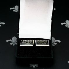 Millenium Turn Of The Century Gents Silver Cufflinks 1999-2000 Original Box