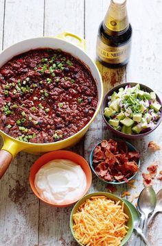Chili Con Carne from www.whatsgabycooking.com Throw some avocado salsa on top and it's game over! (@whatsgabycookin)