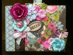 Scrapbook Tutorial: Triple Pocket Page for Mini Albums using one piece of paper per page