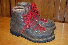 Vtg FABIANO 366 Calzaturificio Alps Mountain Hiking Boots Italy Womens 7M Scarpa