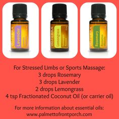 Sports Massage for sore muscles essential oils.              www.onedoterracommunity.com   https://www.facebook.com/#!/OneDoterraCommunity