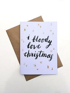 Aussie Christmas : I Bloody Love Christmas by Short & Sweet Design