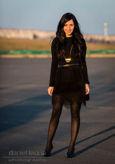 Pantyhose Outfits, Nylons And Pantyhose, Black Nylons, Dress Code, Black Tights Outfit, Dress Outfits, Fashion Dresses, Mode Inspiration, Elegant Woman