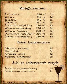 Non-alkoholic drinks.