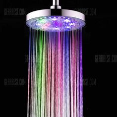Bathroom Shower Head with LED 7 Changing Color High Pressure Water Saving Negative Ionic Filtered Top Spray Shower Sprayer Round 8 inches Best Shower Heads USA Bathroom Shower Heads, Led Shower Head, Rain Shower, Shower Faucet, Bathrooms, Sink Faucets, Cheap Bathroom Accessories, Tub To Shower Remodel, Small Showers