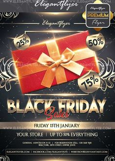 Download Black friday sales V19 Flyer PSD Template  Facebook Cover Free