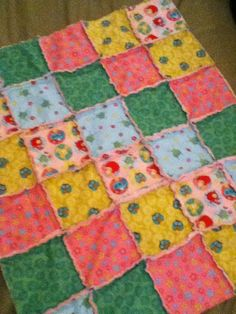Baby girl rag quilt Made by Heather Miller of Laundry Room Quilts