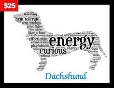 Dachshund Art, Dachshund Artwork, Dachshund Custom Pet  Print, Dachshund Lover, Pet Lover, Dachshund Pet Gift